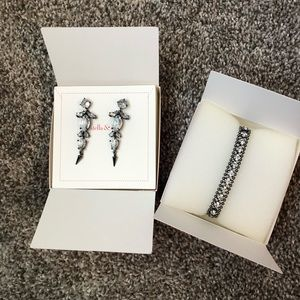 Vintage Stella & Dot Earrings & Bracelet Set